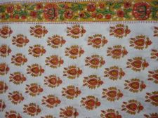 Buy 5yards Indian Hand Made pure cotton fabric hand block printed natural fabrics