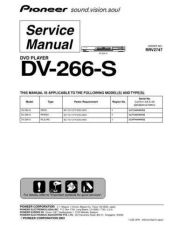 Buy Pioneer dv-266-s-2 Service Manual by download Mauritron #234025