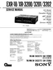 Buy Sony EXR-18-3200-3201-3202 Service Manual by download Mauritron #240655