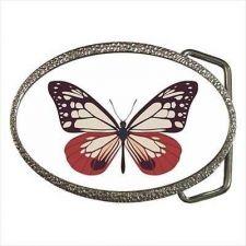 Buy Pink Butterfly Womens Ladies Belt Buckle