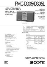 Buy Sony PMC-303L Service Manual. by download Mauritron #243518