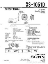 Buy Sony XS-1051D Service Manual. by download Mauritron #246272