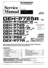 Buy PIONEER DEHP725R DEHP725RW DEHP725 DEHP725W DEH723 DEH625 CR Technical Informati