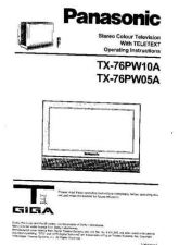 Buy Panasonic TX76PW10A Operating Instruction Book by download Mauritron #236640