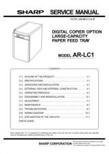Buy Sharp ARLC2 Service Manual by download Mauritron #208302