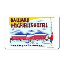Buy Norway Ski Hotel Retro Travel Tourism Art Vinyl Magnet