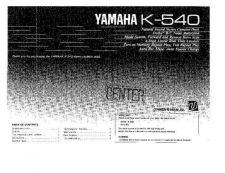 Buy Yamaha K-540 Operating Guide by download Mauritron #248252