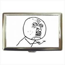 Buy Y U NO Guy Rage Comic Meme Cigarette Money Credit Card Case Wallet