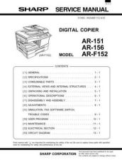 Buy Sharp AR160-161 Service Manual by download Mauritron #208061