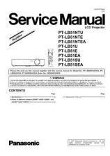 Buy Panasonic PT-LB51U Service Manual by download Mauritron #268408
