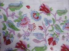 Buy 10yards new Hand Made sanganei pure cotton fabric hand block printed fabric lot