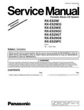 Buy Panasonic MD0609312SE Service Manual by download Mauritron #267802