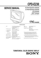 Buy Sony CPD-E220E215EE220E== Service Manual by download Mauritron #239295