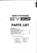 Buy Yamaha SY85 PL C Information Manual by download Mauritron #259689
