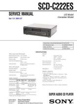 Buy Sony SCD-C222ES Service Information by download Mauritron #238027