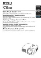 Buy Hitachi PJ-TX100W IT Manual by download Mauritron #225446