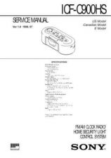 Buy Sony ICF-C900HS Service Manual. by download Mauritron #241575
