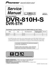 Buy Pioneer DVR-810H-S Service Manual by download Mauritron #234529