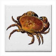 Buy Crab Crustacean Seafood Art Decorative Ceramic Tile
