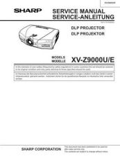 Buy Sharp XVZ9000U Service Manual by download Mauritron #207716