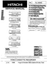 Buy Hitachi VT8000A1 Service Manual by download Mauritron #265272