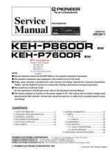 Buy PIONEER KEHP8600R KEHP7600R CRT2011 Technical Information by download #119305