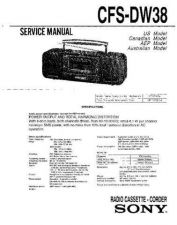 Buy Sony CFS-E1`4S Service Manual by download Mauritron #238945