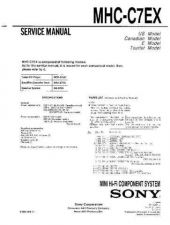 Buy Sony MHC-C7EX Service Manual by download Mauritron #232229