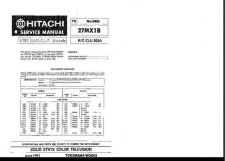 Buy Hitachi 27MX1B.Service Manual by download Mauritron #260238