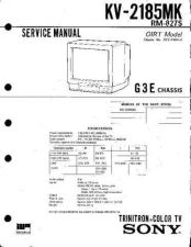 Buy SONY KV2185MK CHASSIS G3E Technical Info by download #104771