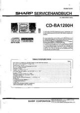 Buy Sharp CDBA2010H SM DE(1) Service Manual by download Mauritron #208417