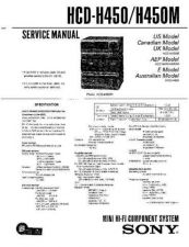 Buy Sony HCD-H450-H450M Service Manual by download Mauritron #241120