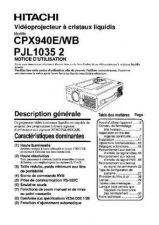 Buy Hitachi CP-X1200W PT Manual by download Mauritron #224733