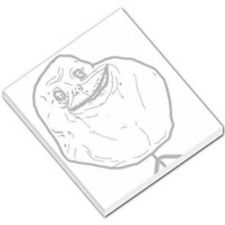 Buy Forever Alone Guy Rage Comic 50 Sheet Mini Paper Memo Pad