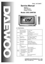 Buy Daewoo DSC-34W70N Manual by download Mauritron #225899
