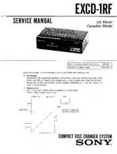 Buy Sony EXCD-1RF Service Manual by download Mauritron #240630