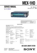 Buy Sony MEX-1HD... Service Manual. by download Mauritron #242793