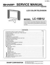 Buy Sharp LC15B2E (1) Service Manual by download Mauritron #209834
