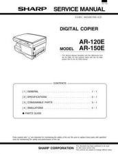 Buy Sharp AR121E-151E SM V2 GB(1) Service Manual by download Mauritron #208033