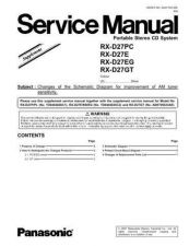 Buy Panasonic RX-D29EG Service Manual by download Mauritron #268556