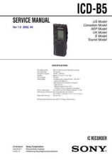 Buy Sony ICD-B5 Service Manual. by download Mauritron #241468