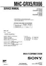 Buy Sony MHC-GRX90AV-RXD10AV Service Manual. by download Mauritron #242879