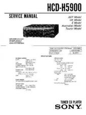Buy Sony HCD-H5900 Manual by download Mauritron #229209