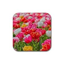 Buy Flower Floral Pattern Design Set Of 4 Square Rubber Coasters