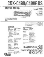 Buy Sony CDX-C490.C490RDSService Manual by download Mauritron #237581