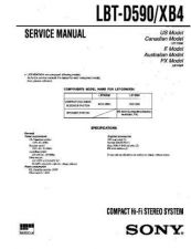 Buy Sony LBT-D590 Service Manual by download Mauritron #241763