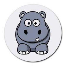 Buy Hippo Hippopotamus Round Computer Mousepad Mouse Pad