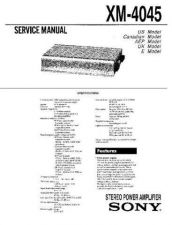 Buy Sony XM-4045 Service Manual. by download Mauritron #245989