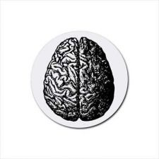 Buy Human Brain Set Of 4 Round Rubber Drink Coasters