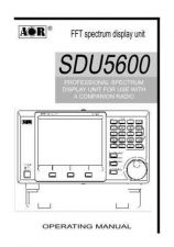 Buy AOR SDU5600 MANUAL 0104 OPERATING by download #117402